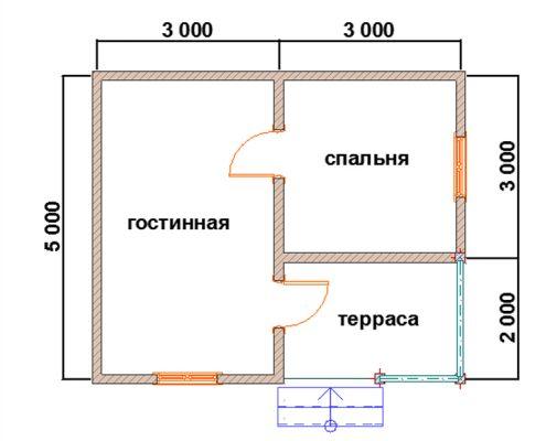 дом 6 на 8 сколько квадратов
